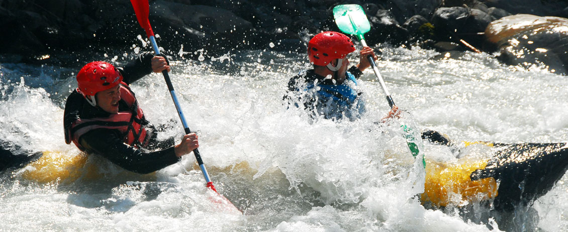 Descente en rafting, hydrospeed, hot dog ou stage eau vive