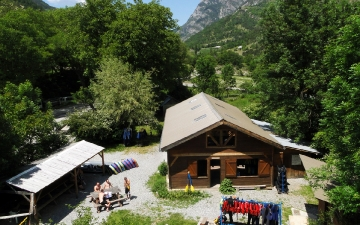 La base d'Anaconda Rafting